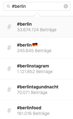 lokale Instagram Hashtags
