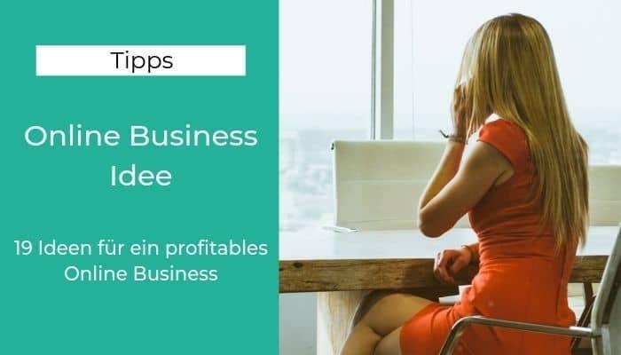 Online Business Idee