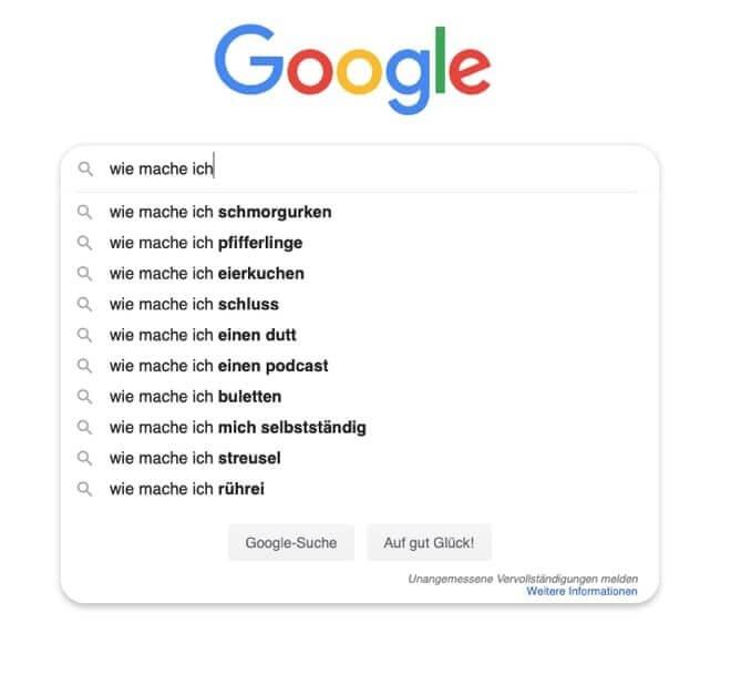 Du kannst auch Google nutzen, um herauszufinden was besonders für ein Thema gefragt ist und daraus eine Online Schulung erstellen