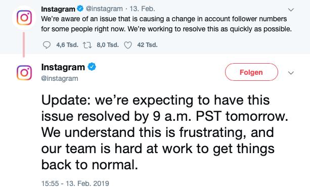 Verlust der Instagram Follower durch Änderungen im Algorithmus.